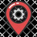 Location Map Gear Icon