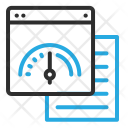 Window Speed Graph Icon
