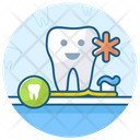 Dental Care Oral Hygiene Brushing Teeth Icon