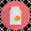 Orange Juice Packaged Icon