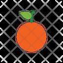 Orange Fruit Healthy Food Icon