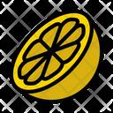 Orange Lemon Slice Icon