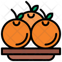 Orange Diet Vegetarian Icon