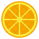 Orange Food Background Icon