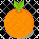 Orange Fruit Isometric Icon