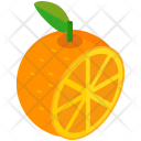 Orange Half Fruit Icon