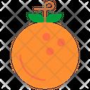 Orange Fruits Healthy Icon