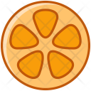 Orange Fruit Fit Icon