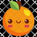 Orange Fruit Face Icon