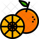 Orange Fruit Juicy Icon