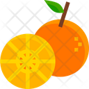 Orange Fruit Juicy Icon