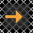 Orange Arrow On Striped Background Icon