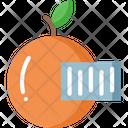 Orangev Orange Barcode Barcode Icon