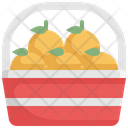 Orange Basket Icon