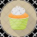 Orange Cream Cupcake Icon