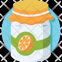 Orange Jam Jar Icon