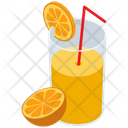 Orange Juice Glass Icon