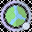 Orbit Moon Earth Icon