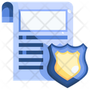 Order Police Report Legal Notice Icon