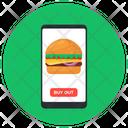 Mobile Food Order Food App Online Order Icon