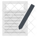 List Paper Order Icon
