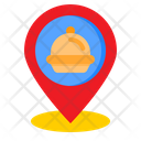 Location Delivery Food Icon