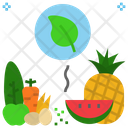 Organic Food Vegetarian Icon