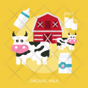 Organic Milk Agriculture Icon