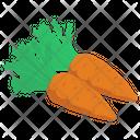 Organic Carrots Vegetable Food Icon
