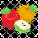 Organic Fruits Vector Icon