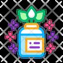 Organic Medicine Vial Icon