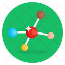 Organic Molecule Chemical Formula Molecular Structure Icon
