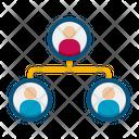 Organisation Management Structure Icon