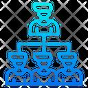 Organization Diagram Organization Network Diagram Icon