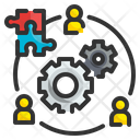 Organization Management Coordinate Management Icon