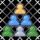 Team Hierarchy Team Building Hierarchy Leadership Icon