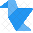 Bird Origami Object Icon