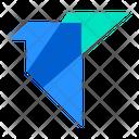 Origami Crane Paper Icon