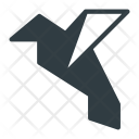 Origami Bird Paper Icon