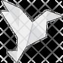 Origami Bird Origami Paper Folded Paper Icon