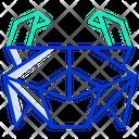 Origami Crab Icon