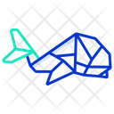 Origami Dolphin Icon