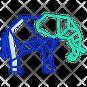 Origami Elephant Icon