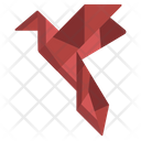 Origami Flying Bird Icon