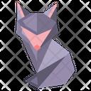 Origami Fox Icon