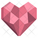 Origami Heart Icon