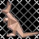 Origami Kangroo Icon