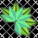 Origami Leaf Icon