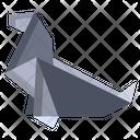 Origami Seal Icon