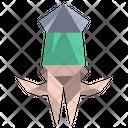Origami Squid Icon